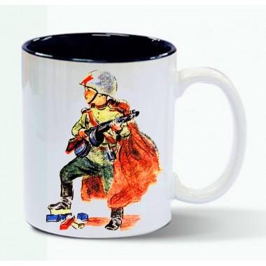 Сталинские кружки. Русские богатыри. Советский солдат - 1944 г